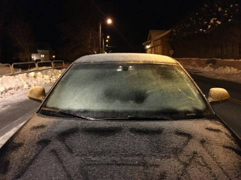 STANSET: Politiet stanset sjåføren en sen januarkveld i år.
