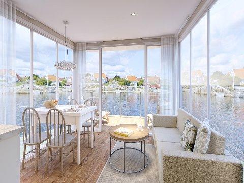 NYTT KONSEPT: Badehotellet i Holmsbu ønsker å tilby et hotellrom på sjøen.