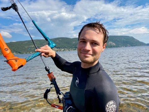 FRIHET: - Kiting er frihet, sier tyskeren Jochen Trostel.