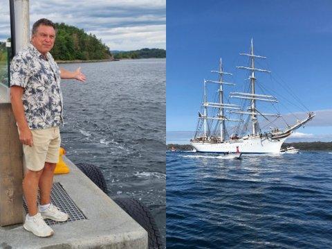 VOLLEN MARINA: Daglig leder Morten Gjeruldsen var ikke i tvil, det er klart sommerskuta må stoppe innom Vollen.
