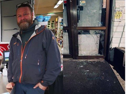 HÆRVERK: Butikkeieren ved Joker Nærsnes har sett seg lei av flere hendelser av hærverk over den siste tiden.