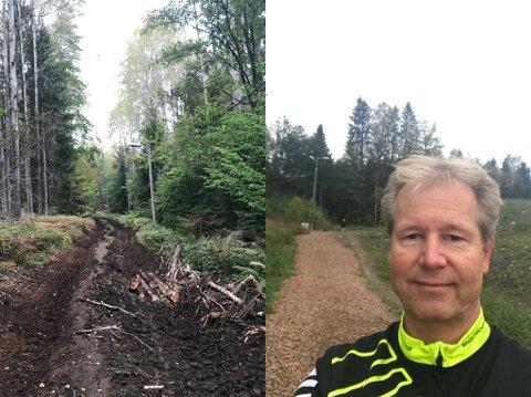 DYPE SPOR: Ole Henrik Storkaas kjente seg nesten ikke igjen da han skulle ta seg en løpetur i lysløypa onsdag ettermiddag.