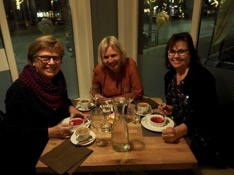 AVSLUTTET LADIES WEEK: Siste kvelden ble avsluttet hos Luigis Spiseri med deilig italiensk mat.