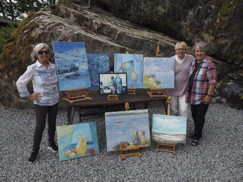 UTSTILLING: Disse kvinnene vil stille ut kunstverkene sine på Holm. ALLE FOTO: SVEIN-IVAR PEDERSEN