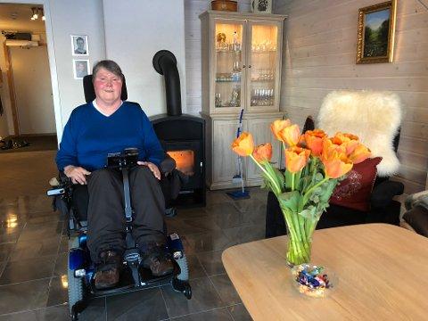 Glad: Else Marie Knutsen er lettet over beskjeden som kom fra Sande kommune torsdag ettermiddag.