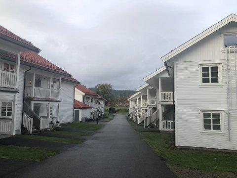 Fire eiendommer ble omsatt her: I Hagebyen i Sande skiftet fire leiligheter eiere.