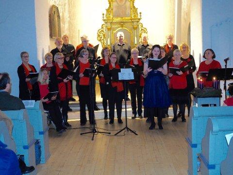 FYLTE KIRKEN: Galleberg Sangkors julekonsert har lange tradisjoner. Dette bildet er fra 2018-konserten.