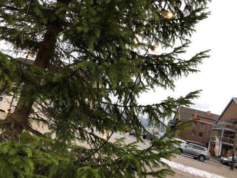 BORTE: Driftslederen i kommunen antar at noen har fjernet lyspærer fra juletreet.