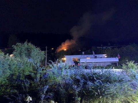 Brann i hytte i Sande