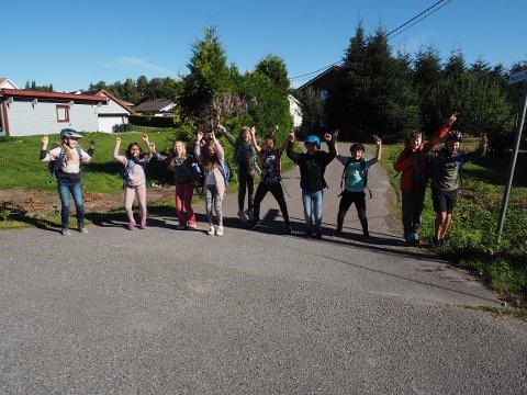 Klart vi liker Beintøft, sier disse 10 elevene fra femte trinn på Haga skole.