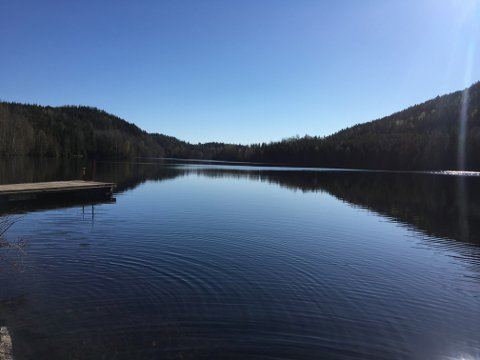 OREBERGVANNET: Slik ser det ut, Orebergvannet i all sin prakt, som enn så lenge har en uviss fremtid.