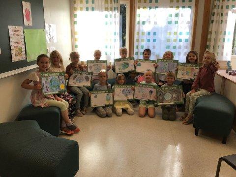 VANT UKESOPPDRAG: Klasse 2A på Galleberg skole vant det første ukesoppdraget i konkurransen Beintøft.