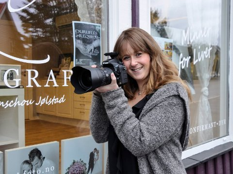 DRØMMEN HAR GÅTT I OPPFYLLELSE: Elisabeth Figenschou Jølstad har alltid likt å fotografere. Nå gjør hun sin utstillingsdebut.