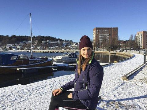 Sjøfront:  Hva vil dere med byen, spør landskapsarkitektstudent, Marthe Nordby Lileng? Foto: Privat