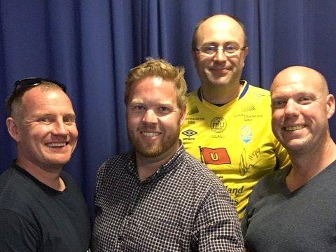 Knut Skofteland (bakerst) var gjest i denne ukens episode av SF-Podden