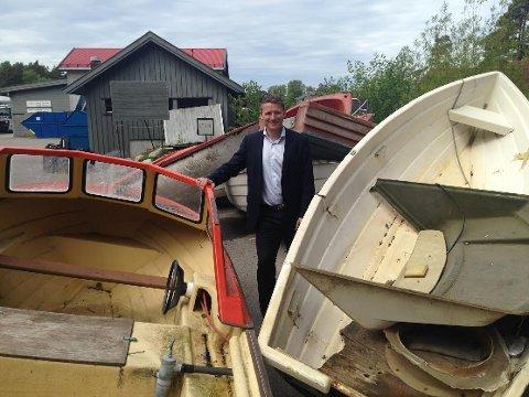 ETTERLYSER RETURORDNING: – Hadde vi hatt en nasjonal ordning ville det vært enkelt for folk å velge en ansvarlig løsning når de skal kvitte seg med en båt, sier Thomas Mørch i Norsk Gjenvinning.