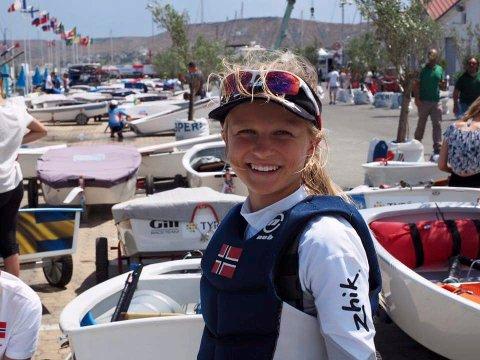 KLAR: Nora Doksrød er blant Sandefjord-seilerne som gleder seg til norgescup på hjemmebane.