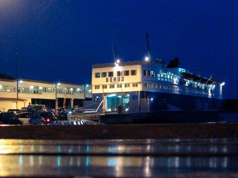 IKKE HIT I DAG: MS Bohus kommer ikke til å legge til kai Strømstad på dagen onsdag.