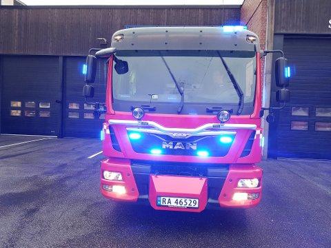 UTRYKNING: Brannbilen rykket ut med blålys og sirener - men brann var det ikke.