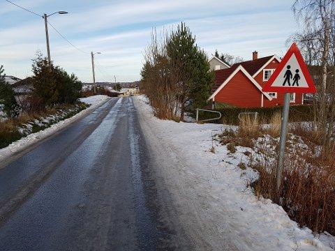 BEFARING: Sandefjord tingrett stengte Haneholmveien, og hadde befaring på ulykkesstedet under rettssaken mot pensjonisten.