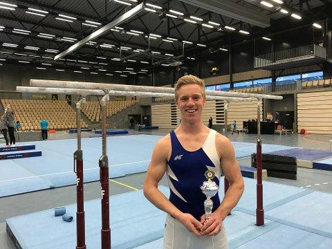 TREDJEPLASS: Brede Olsen gjorde en svært god konkurranse på Sotra.
