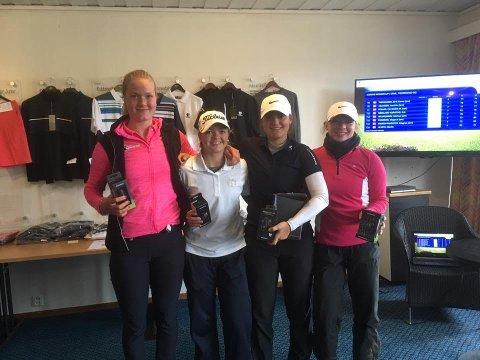 GOD START: Julie Marie Skalleberg (t.v.) har to gode konkurranser bak seg i årets norgescup så langt.