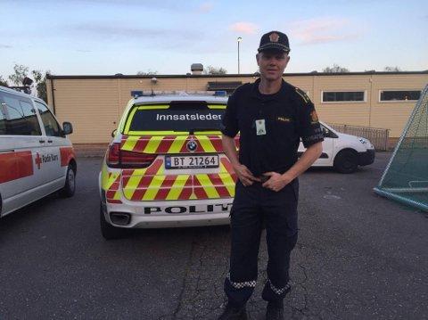 LEDER AKSJONEN: Politiets innsatsleder er Espen Solemdal .