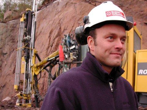 UTE I FELT: Fra tiden da Oddbjørn Røed jobbet som driftsleder i selskapet. I dag er han konsernsjef og ligger på inntektstoppen i Sandefjord, sammen med faren og bestefaren. Arkivfoto: Steinar Ulrichsen