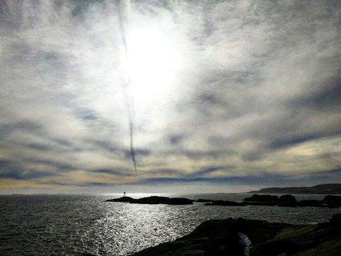 Kontrast: Line Belgau har komponert et flott bilde bilde fra kysten.