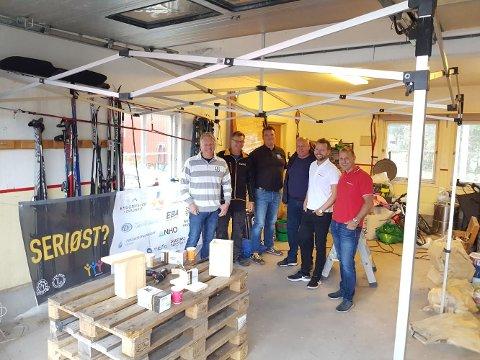 STAND: Sandefjord Håndverk- og Industriforening skal ha stand lørdag.