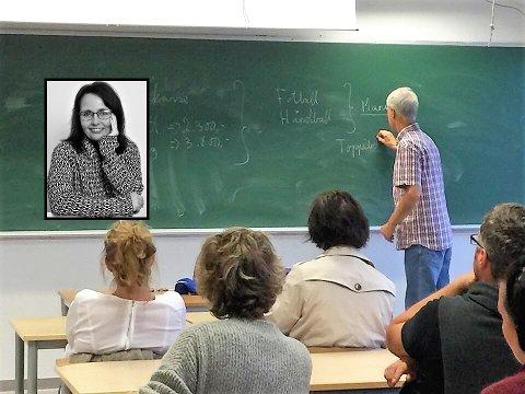 PÅ SVGS: Når ungene begynner på videregående er det fellesmøte og møter klassevis for foreldrene.