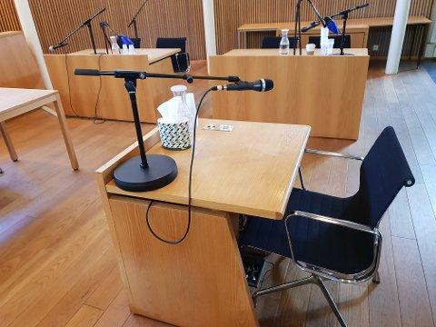 IKKE TRODD: Vestfold tingrett i Sandefjord trodde ikke på påstanden fra tiltalte om at kvinnen hadde tatt grep om testiklene hans.