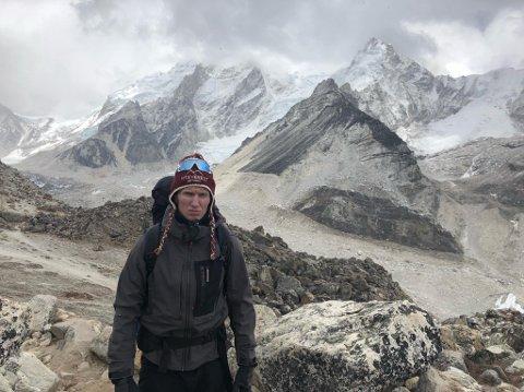 VIL TIL TOPPEN: Frank Løke har mål om å bestige Mount Everest.
