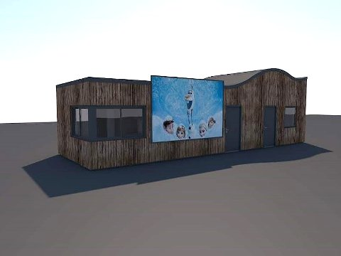 KIOSK OG TEKNISK BYGG: Slik ser arkitekten og kommunen for seg bygget i Thor Dahls gate. Her skal det i tillegg til kiosken være toaletter, skifterom og teknisk anlegg med kjøleanlegg til skøytebanen. ILLUSTRASJON: Innafor arkitektur og design AS