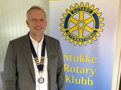 ROTARY: Even Hatlo Andersen er president i Stokke Rotaryklubb. Han forteller om en aktiv forening som er engasjert i både lokale og internasjonale prosjekter.