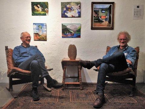 NY VRI: Birger Dyve Larsen og Jørund Holst-Hansen kjente kunstverk kunstverk til sine egne.