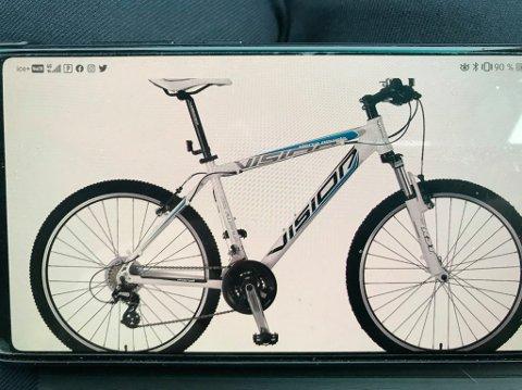 LIK: Det er en sykkel som denne, den savnede gutten eier.