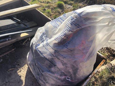 RESTAVFALL: Fra april må folk samle restavfallet i gjennomsiktige søppelsekker.