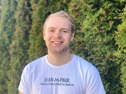 NY I SH: Sander Ree-Lindstad (22) er nytt tilskudd i Sandefjord Håndball-stallen. Han ser fram til å ta på seg den blå drakta kommende sesong.