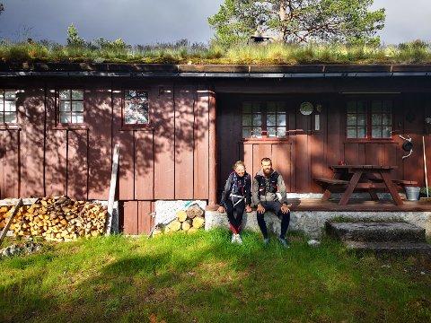 TUR: Mathilde Ilebrekke og Gaute Løvlien har benyttet seg av hyttene til Den Norske Turistforening.
