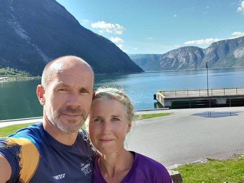 STARTKLAR: 7. august håper Jarle og Ida Aagaard at startskuddet for Norseman fyres av. Hvis ikke er 21 måneder med forberedelser til liten glede.