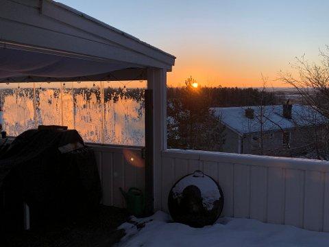 KJØLIG: Det har vært kaldt i Sandefjord og Vestfold i januar. Siden slutten av 1980-tallet er det kun to år hvor gjennomsnittstemperaturen har vært lavere enn starten på 2021.