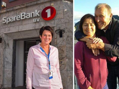 KLAGET INN: Banksjef Signe Stenersen i Sparbank 1 Sandefjord er sammen med tre andre ansatte klaget inn av Kjell Lindberg og kona Sampan Panto. De føler seg dårlig behandlet og falskt anklaget av banken.