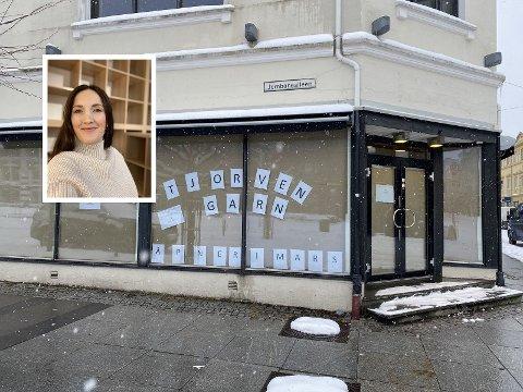TJORVEN GARN: I mars åpner det en ny garnbutikk i Sandefjord. Daglig leder Victoria Østby er i full gang med innredning av butikken.