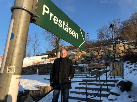 INFOTAVLER:  Sentrum Nærmiljøutvalg og Roar Berggren vil synliggjøre all den fantastiske historien som ligger i Preståsen.