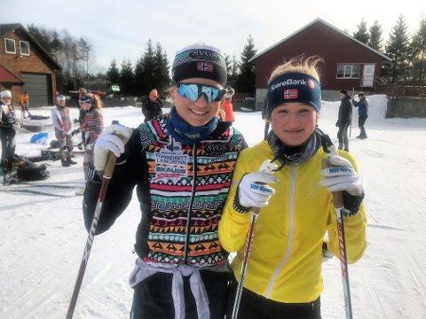 AVLYST: Hedvig og Nora Doksrød savner å konkurrere på ski mot andre klubber.