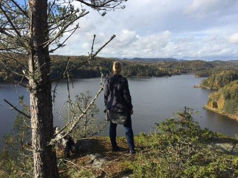 VAKKER UTSIKT: En av de tidligere turene med utsikt fra Røvern over Goksjø mot Kalven.