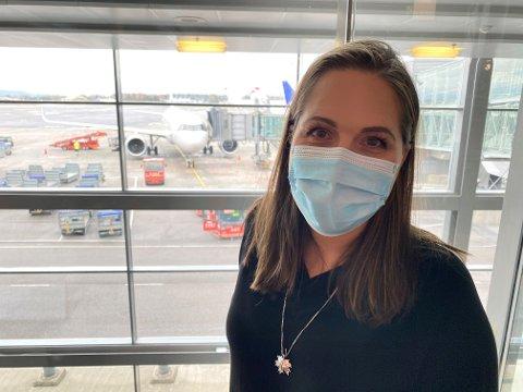 IKKE REISEKUTT: Lene Westgaard-Halle (Høyre) håper ny teknologi i framtiden kan gi deg som forbruker billigere flyreiser, uten at klimautslippene øker.