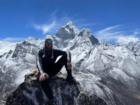 TO GANGER: Frank Løke har vist seg å være så populær at han inviteres til to show med Gutta i Bakgården. Everest-helten kommer på premieren fredag 18. juni klokken 20.00 og 24. juni samme tid. Han er gjest nummer én og fire. FOTO: Privat