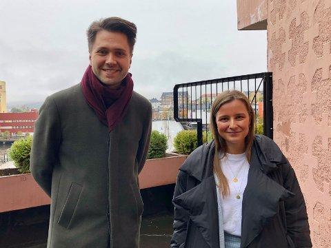REAGERER KRAFTIG: Bjørn-Kristian Svendsrud (FRP) og Karoline Aarvold (H) reagerer på fylkeskommunens strenge innstramminger innen utdanning når de samtidig har spart inn enorme beløp.